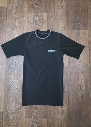 Мужская спортивная мега  компресионная футболка gymheadz