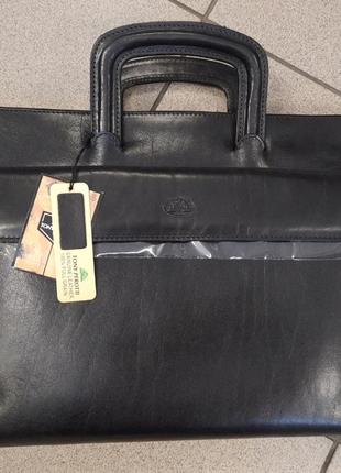 Кожаная папка (сумка) с ручками