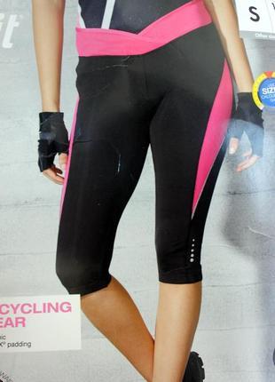 Новые женские велошорты crivit с 3d памперсом coolmax s