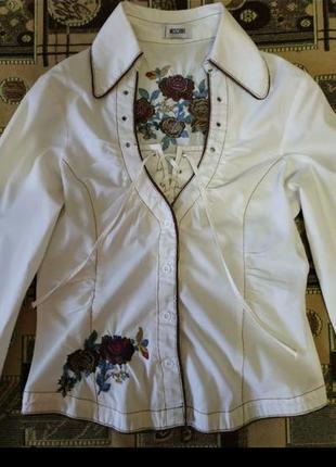Фирменная рубашка moschino