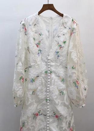 Платье zimmermann , натуральное кружево