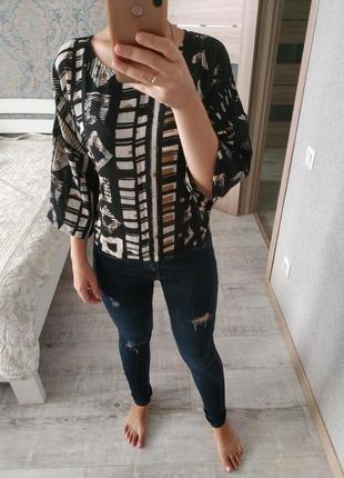 Красивая блуза шифоновая кофточка в актуальный принт