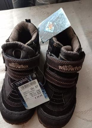 Термо ботинки кросовки  willow деми термо обувь влагозащита