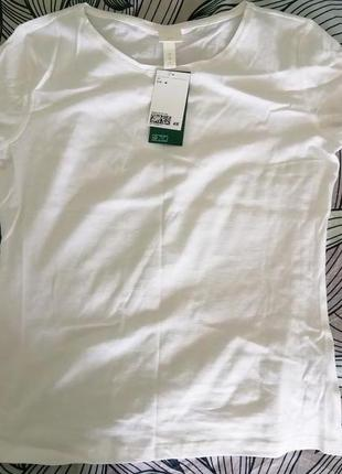 Белая футболка h&m