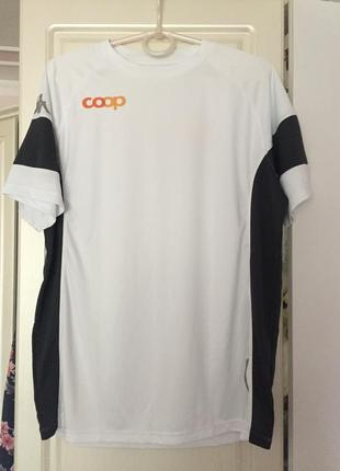 Суперская cтильная брендовая мужская спортивная футболка по бокам ткань в сеточку kappa