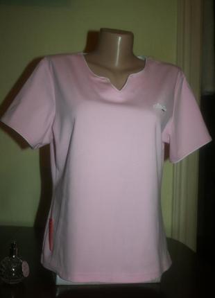 Дизайнерская базовая нежно-розовая футболка для спорта от prada