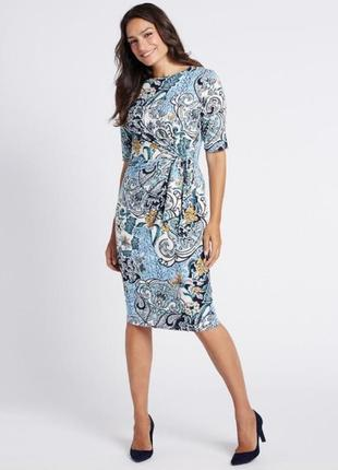 Платье миди 50 52 размер офисное футляр весеннее крутое нарядное с рукавом