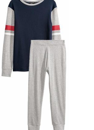Пижама для мальчика  158 см (12-13 years) серая h&m 58822