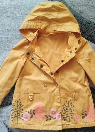 Плащик дождевик vertbaudet, куртка курточка деми, ветровка, вітрівка