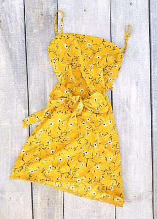 Сарафан, платье с запахом в цветочный принт