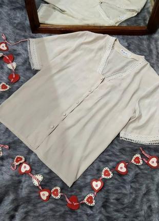#розвантажуюсь блуза топ кофточка прямого кроя из мокрого шелка с кружевным декором