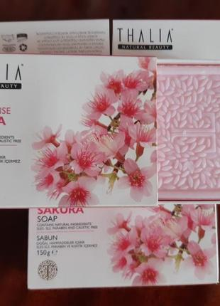 Натуральное мыло sakura thalia sakura age defense natural soap, 75г*2