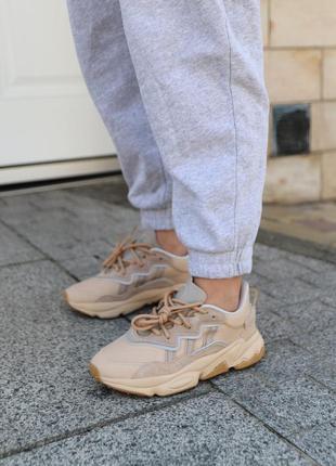 Adidas ozweego beige бежевые ♦ женские кроссовки ♦ весна лето осень