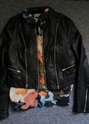 Куртка косуха кожаная эко