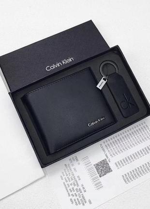 Мужской кожаный кошелек calvin klein ♦ отлиный подарок мужчине