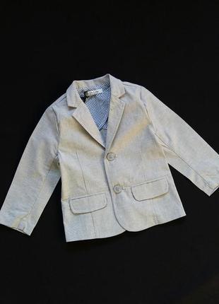 Легкий пиджак/жакет street gang (италия) на 12-24 месяцев