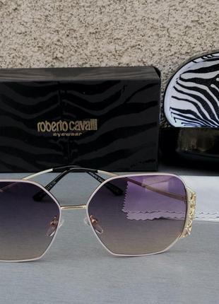 Roberto cavalli очки женские солнцезащитные фиолетовые с градиентом