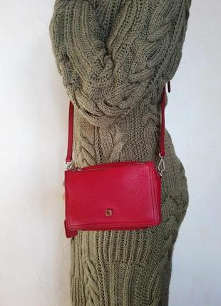 Кожаная сумка кроссбоди, 100% натуральная кожа, есть доставка бесплатно