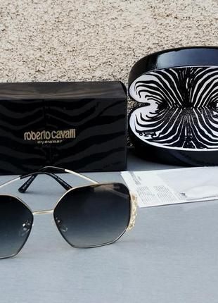 Roberto cavalli очки женские солнцезащитные черные с градиентом