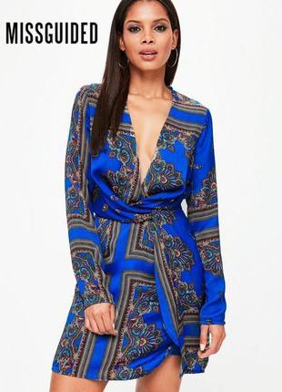 Очень красивое, яркое платье missguided uk12/euro40, m-l