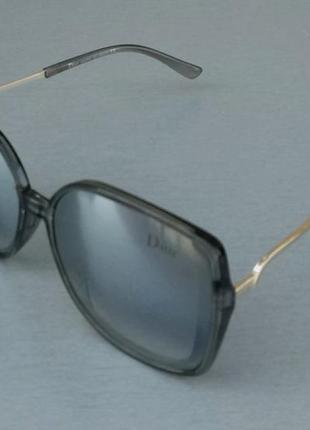Christian dior очки женские солнцезащитные зеркальные металлик