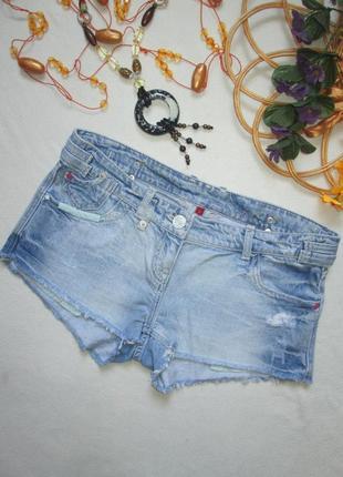 Суперовые джинсовые короткие шорты с необработанным краем river island