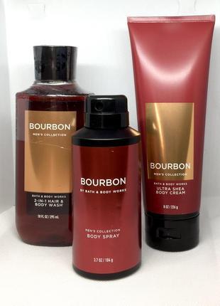 Мужская коллекция средств по уходу за телом bath & body works bourbon