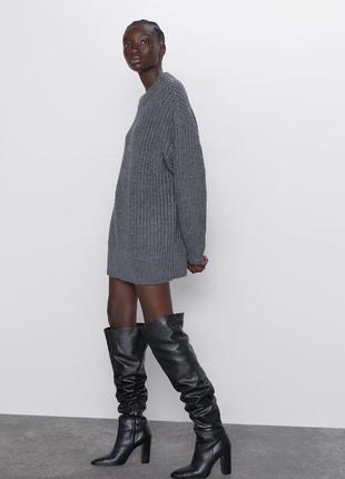 Новый удлинённый свитер в стиле оверсайз zara