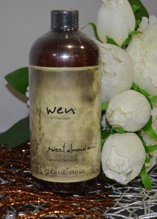Фирменный очищающий кондиционер для волос wen sweet almond mint cleansing conditioner