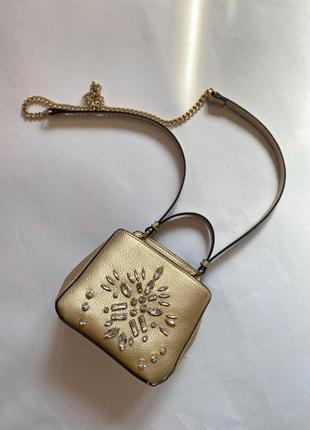 Золотистая сумка  zara