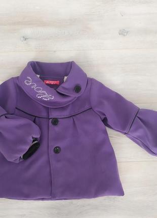 Модное пальто на девочку