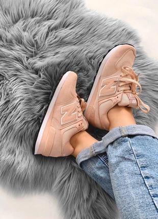 Розовые женские кроссовки new balance (весна-лето-осень)😍