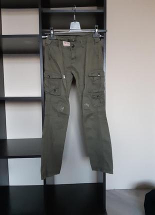 Милитари штаны джинсы terranova