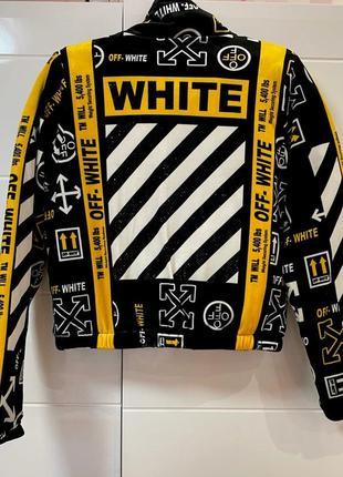 Курточка велюр на синтепоне off white желтая