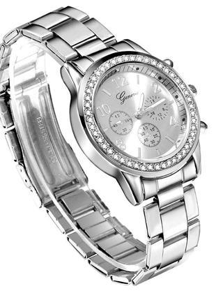 Часы женские наручные серебристые