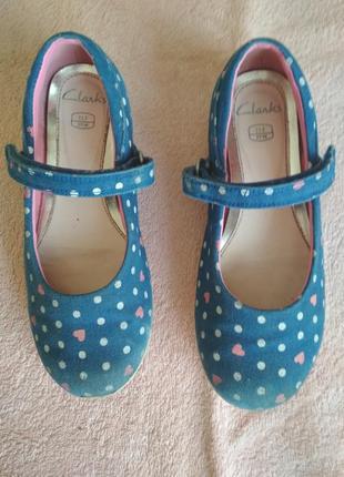Джинсовые туфельки clarks