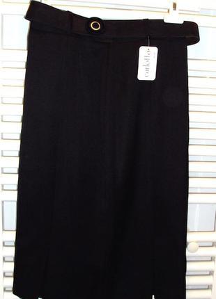 Великолепная юбка ,италия,новая,  шерсть лана,с поясом