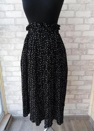 Трендовая юбка в горошек, новая