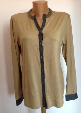 Вискозная трикотажная итальянская рубашка/m/ brend josephine& co