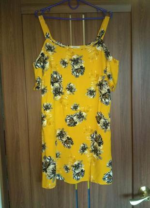 Платье свободного кроя трапеция papaya