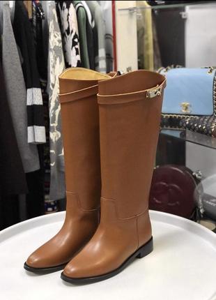 Распродажа! срочная🔥🔥🔥цена ниже минимальной. сапоги hermès коричневые, серые!