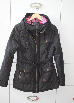 Легкая черная стеганая куртка kangol размер  l
