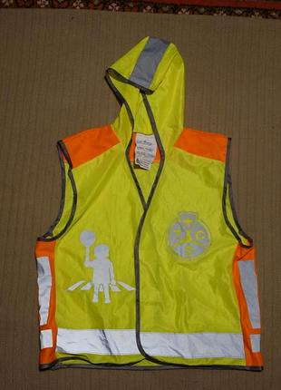 Легкая люминесцентная куртка для школьника kinderweste на рост 134/140