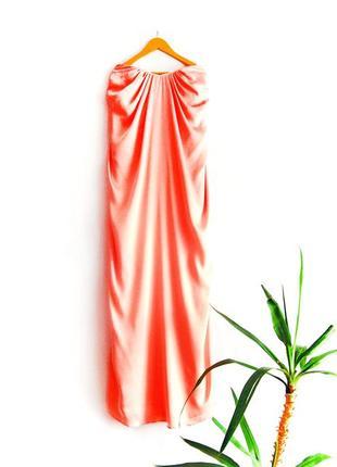 Атласное нежное макси платье h&m