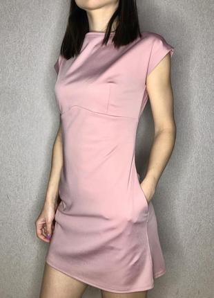 Ніжне платтячко кольору пудра з рожевинкою зі сріблястим замочком на спинці🌸
