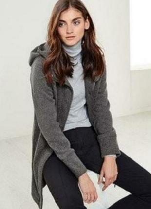 Теплое вязанное пальто