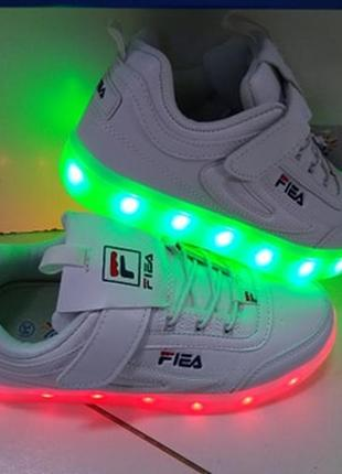 Led -кроссовки с подзарядкой usb фірми bessky