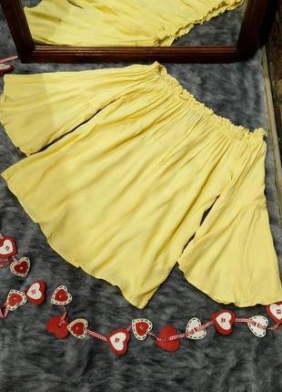 #розвантажуюсь блуза топ кофточка со спущенными плечами из натуральной вискозы f&f