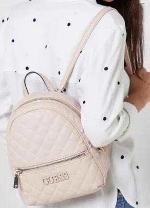 Городской рюкзак сумка  guess гесс elliana пудровый оригинал