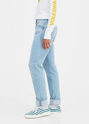 Мужские светлые голубые новые джинсы